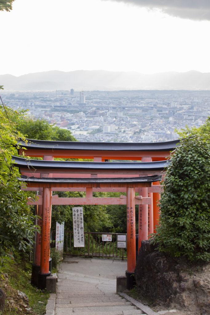 kyoto red torii gate